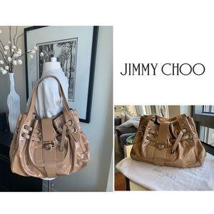 Jimmy Choo Ramona Nude Patent Leather Bag
